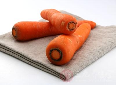 胡萝卜含有丰富的钾元素